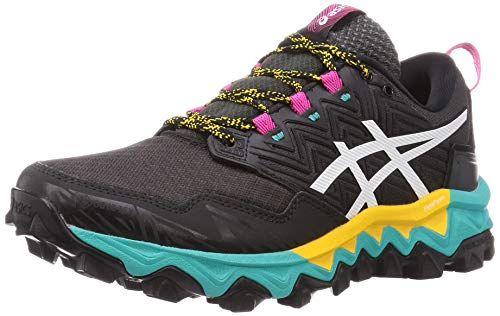 ASICS Womens Gel-Fujitrabuco 8 G-TX Running Shoe, Black/White,40.5 EU