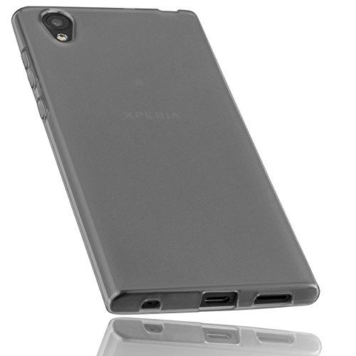 mumbi Hülle kompatibel mit Sony Xperia L1 Handy Case Handyhülle, transparent schwarz