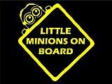 Diamond Graphics Little Minions On Board (6' X 6') Yellow Die Cut Decal Bumper Sticker for Windows, Cars, Trucks, Laptops, Etc.