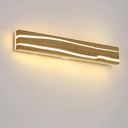 LBMTFFFFFF Novedad Soporte para Lámpara de Pared Marrón Claro Madera Nórdica Lámpara de Pared Led Moderna Minimalista Sala de Estar Dormitorio Lámpara de Noche Espejo de Baño Lámpara de Pared de Pasi