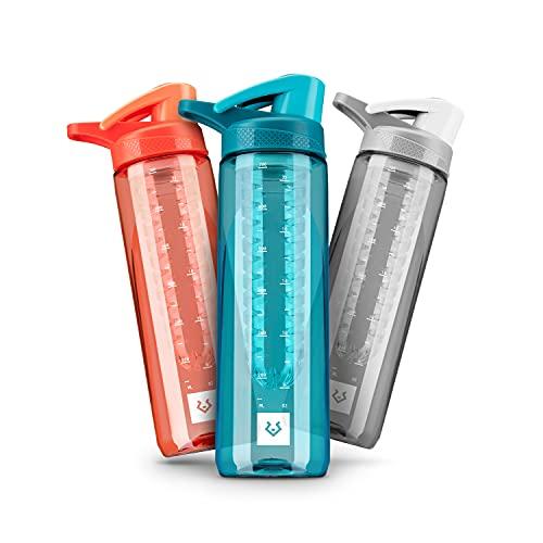 Alphatrail Botella Agua Tritan Jacob 750ml Azul 100% Prueba de fugas I sin BPA & Ecológicamente I Seguro Lavavajillas I Abertura para beber funcional para una óptima hidratación durante el deporte
