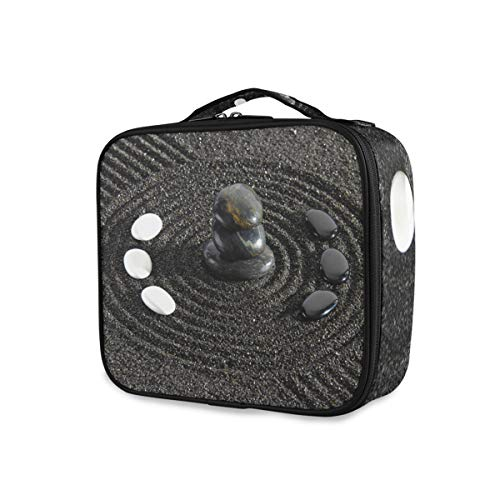 Rangement Trousse De Toilette Organisateur Voyage Art Cailloux Sable Noir Pierre Maquillage Sac Outils Cosmétique Train Case Portable