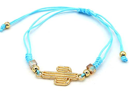 Musthaves Women's bracelet with cactus - adjustable length. blue