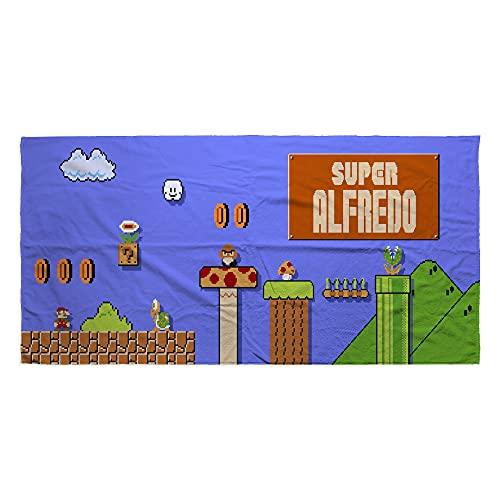 LolaPix Toalla Mario Bros. Regalos Personalizados. Toalla de Playa. Toallas Personalizadas con Nombre. Varios diseños. Mario ✅