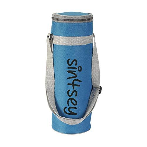 Borsa termica per bottiglie fino a 1,5litri con tracolla regolabile, blau
