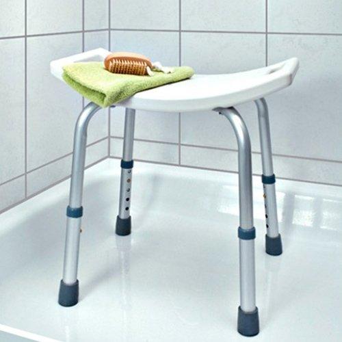 Bakaji taburete ducha baño para mayores ajustable silla para discapacitados Asiento Bañera para niños (aluminio y plástico resistente