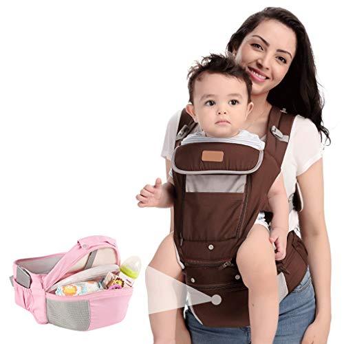 Porte-bébé Siège bébé près de la Taille Siège Quatre Saisons à l'arrière Peut Se Prendre dans Les Bras / avec Rangement ( Color : B )