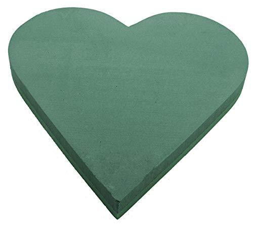 Oasis Blumen Steck Schaum Pack Mit 2 Stück Herzform 30.5cm