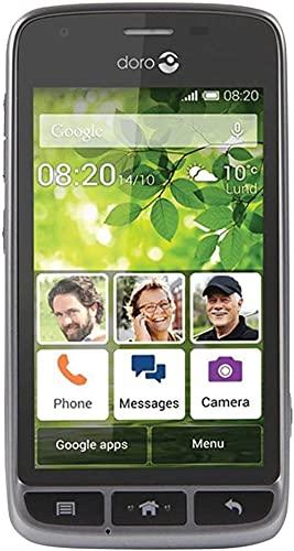 "Doro Liberto 820 Mini - 3G Smartphone (4\"" Touchscreen, 5 MP Kamera, GPS, Bluetooth 4.0, WiFi, Android 4.4) stahl/schwarz"