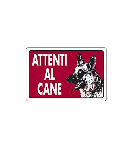 CARTELLO ATTENTI AL CANE 30x 20 ALLUMINIO [TARGOTIMBRI ]