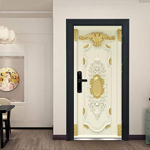 3D Türaufkleber Für Innentüren,Türsticker,Selbstklebend Türposter,Fototapete,3D Tür Wandtattoo 77 * 200Cm Barock Retro
