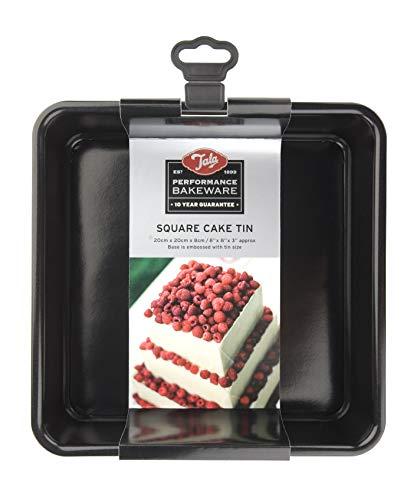 Tala Square Cake Tin, Black, 20 cm
