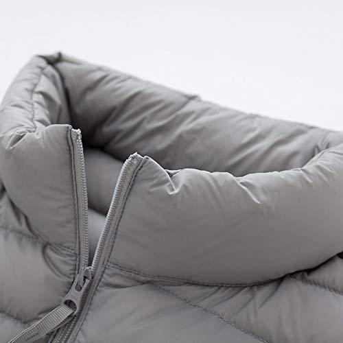 QBKYRF Herren DaunenjackeJacke Herren Winter Portabilität Warm 90% White Duck Hooded Man Coat XXXL Camel