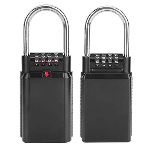Jingyig Caja de Seguridad para Llaves, Caja de Almacenamiento de Llaves, Caja de Llaves de Pared, Aleación de Zinc, Alta Seguridad, para Caja de Seguridad Caja de(Black)