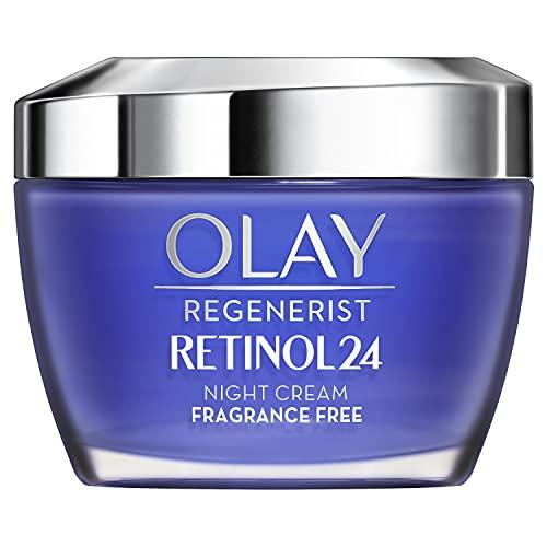 Olay Retinol24 Feuchtigkeitscreme Für Die Nacht, Duftfrei Für Glatte Und Strahlende Haut, Mit Retinoid-Komplex, 50ml