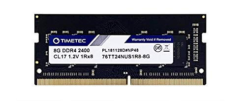Timetec Hynix IC DDR4 2400MHz PC4-19200 Unbuffered Non-ECC 1.2V CL17 1Rx8 Single Rank 260 Pin SODIMM Laptop portatile Memorie Module Upgrade (8GB)