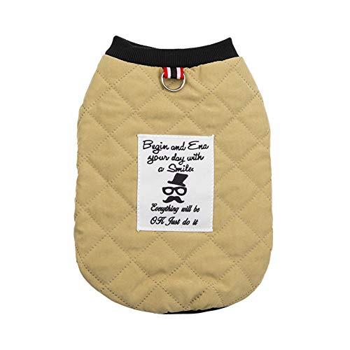 Savlot Hundeausstattung Haustier Warme Baumwolle gepolsterte Kostümkleidung Welpen Winterweste Mantel Herbst Winter Warme Samtweste Jacke Französische Bulldogge Chihuahua Teddy Pudel