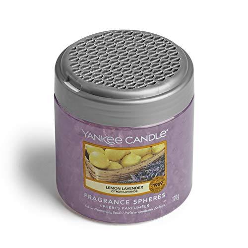 YANKEE CANDLE Sfere Profumate per Ambiente, Fino a 30 Giorni di Fragranza, Lavanda e Limone