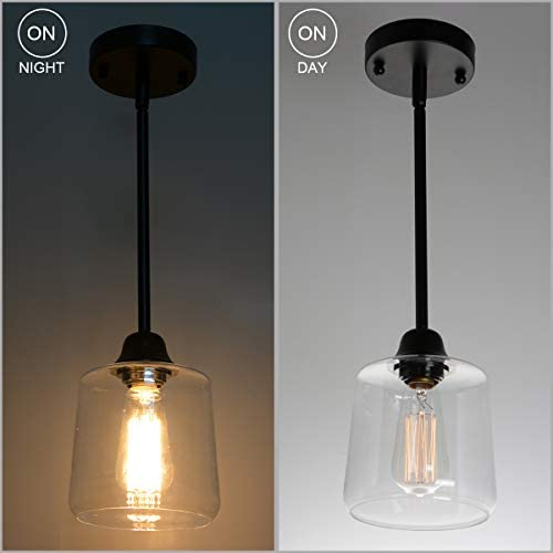 Clear glass pendant lights for kitchen _image1