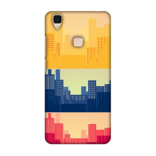 AMZER Slim Fit Handcrafted Designer Printed Snap On Hard Shell Case Back Cover with Screen Cleaning Kit Skin for Vivo Y55 - Hand Fan- Japan Flag HD Color, Ultra Light Back Case