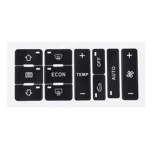 Interruptores para Automóviles Pegatinas de reparación del interruptor de control de aire de aire de aire para A2 / A3 8L A/C Botón Kit de reparación Fix Faded feo pegatinas de coche Interruptor de
