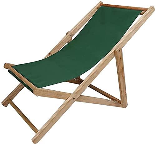 MUZIDP Silla de salón para balcón, de madera maciza, plegable, fácil de llevar, para el hogar, sala de estar, almuerzo y siesta (color: G)