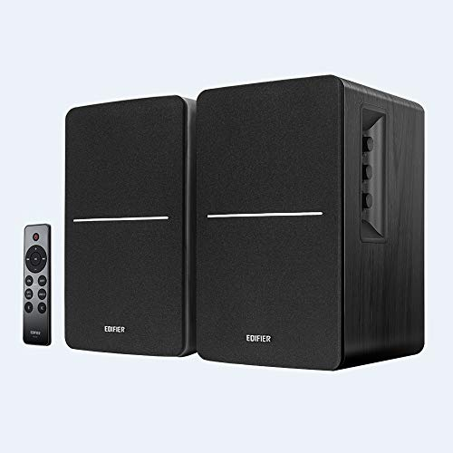 Edifier R1280DBs Active Bluetooth Bookshelf Speakers - Optical Input - 2.0 Wireless Studio Monitor Speaker - 42W RMS with Subwoofer Line Out - Black