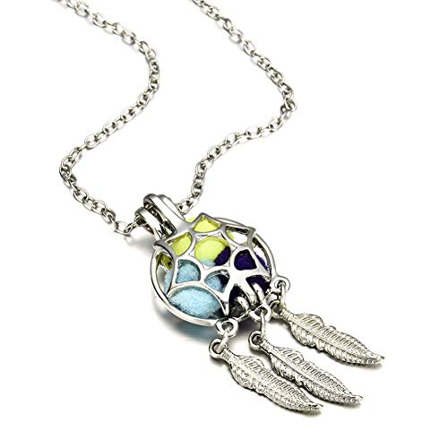 SONGAI Necklace Pendant For Women'S Dream Catcher Pearl Cage Floating Locket Necklace Chain Charms Jewelry Best Gift Bracelets Earrings Rings Necklaces
