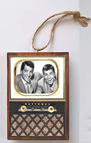 Followthemoonart Dean Martin Jerry Lewis Show Old Classic Television Vintage Look Wood Ornament