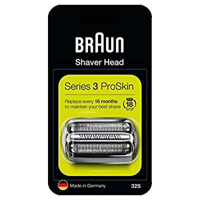 Braun Series 3 32S Electric Shaver Head Replacement - Silver - Compatible with Series 3 ProSkin Shavers from Procter & Gamble