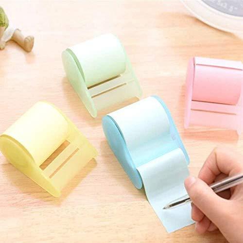 Sourcemall 4 rollos adhesivos de notas adhesivas con dispensadores, varios colores publicados para manualidades
