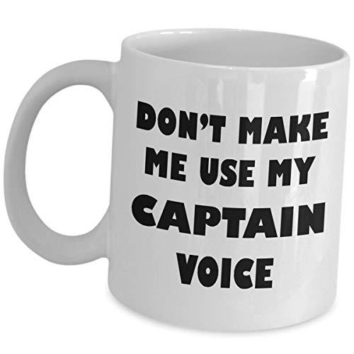 Kapitein Mok Koffie Thee Cup Grappige Leuke Gag Gift - Maak me niet Gebruik Mijn Stem - Commandant Chief Officer Army Starship Navy Zeeman Schip Marine Boot Pilot Geschenken voor Mannen Vrouwen