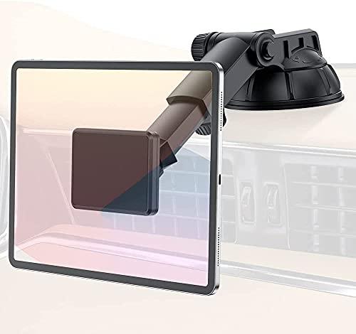 PLDHPRO - Supporto magnetico per telefono e tablet da auto, supporto per cruscotto auto, supporto per parabrezza auto, rotazione a 360°, magnete super forte, per tablet iPhone iPad da 4 a 10 pollici