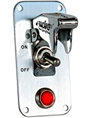 SIMONI RACING ISR/3X-L Interruptor Universal con Placa, Cromado
