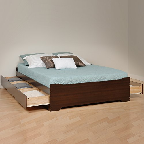 Prepac -3K Queen Sonoma Platform Storage Bed with 6 Drawers
