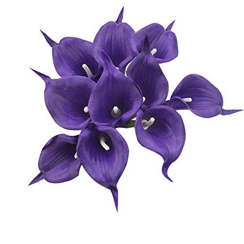 Hunpta@ 10 Stück Künstliche Calla Lilie Blumen, Kunstblumen Blumenarrangement für Brauthochzeit, Haus, Partei, Büro, DIY Blumengestecke