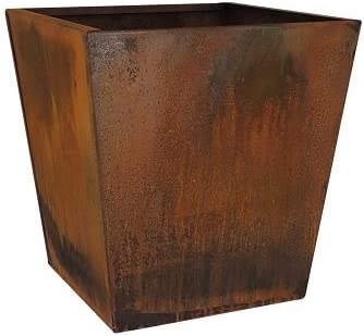 Nice Corten Max 54% OFF Tapered Square inch 20 Selling rankings Planter –