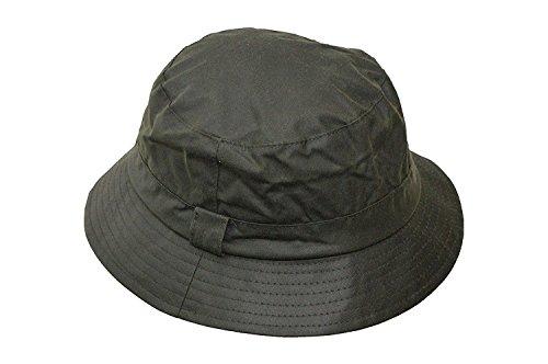 Walker and Hawkes, cappello da pesca, unisex, cerato, di colore verde oliva, taglia XS fino a 2XL verde oliva XS
