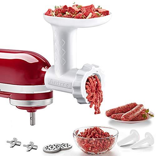 ANTREE Antree食品グラインダーとソーセージフィラーチューブアタッチメントキッチンエイドミキサースタンド用 すべてKDミキサー設計 ホワイト
