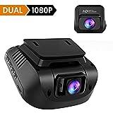 Crosstour Dashcam 1080P Full HD Autokamera Vorne und Hinten Dual Lens, Externe GPS Auto Camera, 170...