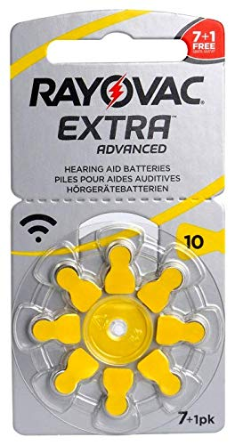 Rayovac - Batteria per apparecchi acustici extra avanzati, misura 10, confezione da 60 pezzi