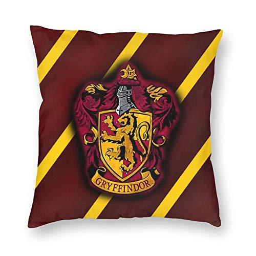 ZVEZVI Fodere per Cuscini Decorativi di Harry Potter Grifondoro 18X18 per Divano Letto della Stanza di casa, Fodera per Cuscino Quadrato Morbido