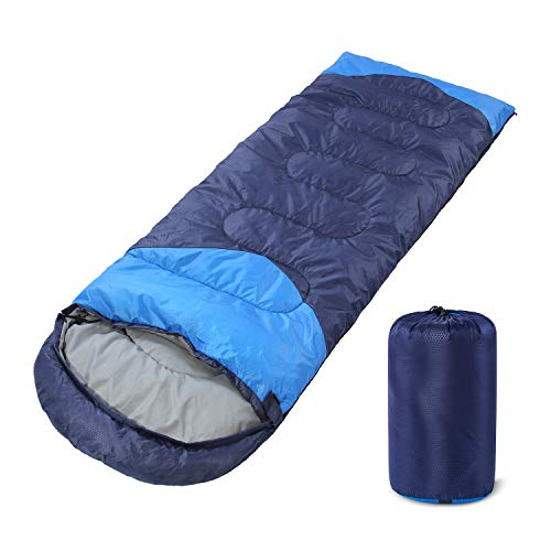 YOUMAKO Backpacking Sleeping Bag for Adults & Kids - Lightweight, Waterproof, Comforable for Spring Summer Fall - Hiking, Traveling, Camping