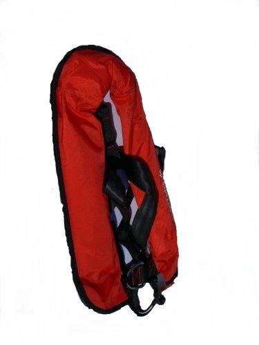 Vollautomatische Rettungsweste Schwimmweste in rot 150 N mit Lifebelt
