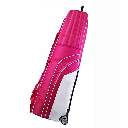 YPSMLYY Golfairbag Leichte Faltbare Golftasche Reisetasche Golfschlägertasche Mit Riemenscheibe Dicke Faltbare Golftasche,Pink