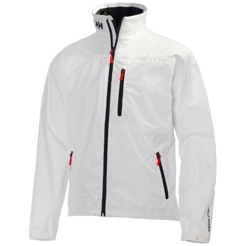 Helly Hansen Men's Crew Waterproof Windproof Breathable Rain Coat Jacket, 001 White, Medium
