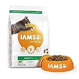 IAMS Vitality - Croquettes Premium Chats Adultes 100% Complètes et équilibrées - A l'Agneau - Sans OGM Colorant Arôme Artificiel - Sac refermable 1,5 kg