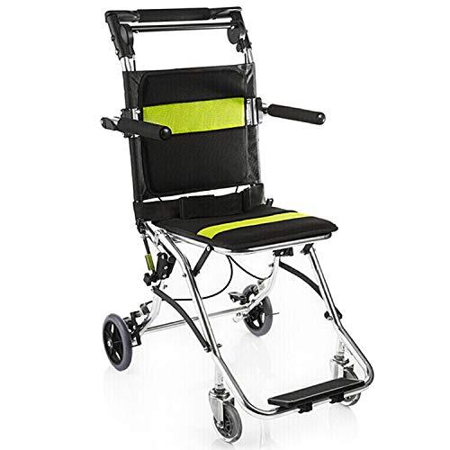 Viajar potable plegable Ultra silla de ruedas silla de ruedas ligera de transporte for los ancianos y los niños pueden Junta antideslizante Protección de pedal de freno de mano de plástico antidesliza