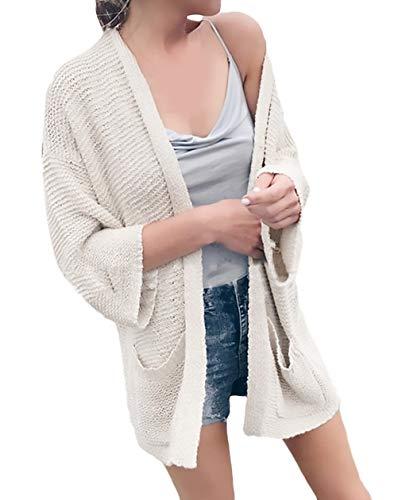 Dames gebreide jas met lange mouwen licht cardigan open zomer comfortabel gevacatie geschenken losse vrije tijd strand Sunscreen Bikini Cover Up Tuniek