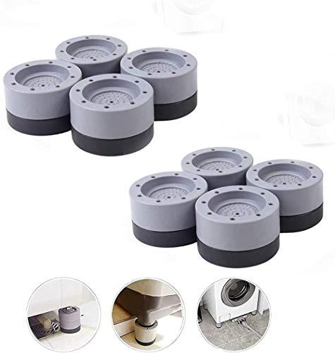 Arandela de supresión de ruido, (8 piezas) Patas de goma antideslizantes para lavadoras y secadoras para aumentar la altura